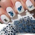 24 pçs/lote Etiquetas Da Arte Do Prego Bluesky Metálico Borboleta Flower Design Malette Outil Moda Prego Decalques Unghie Malette Outil
