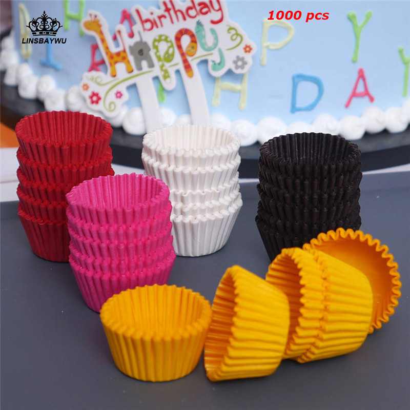 1000Pcs Chocolate Paper Muffin Case Cupcake Liner Baking Cups Mold Cake Stand Decorating for Wedding Party Supplier