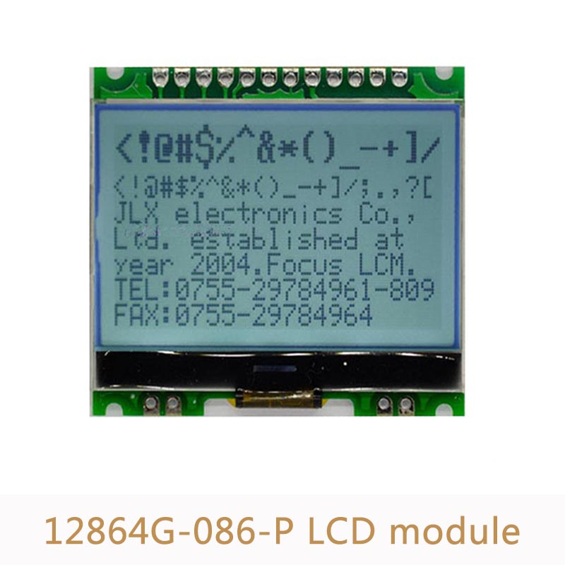 12864G-086-P 12864 Dot Matrix LCD Display Module COG With Backlight 4 Serial Interface 5V L21