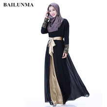 Fashion Chiffon muslim abaya 2018 traditional turkish clothing arabic dresses for women B5025