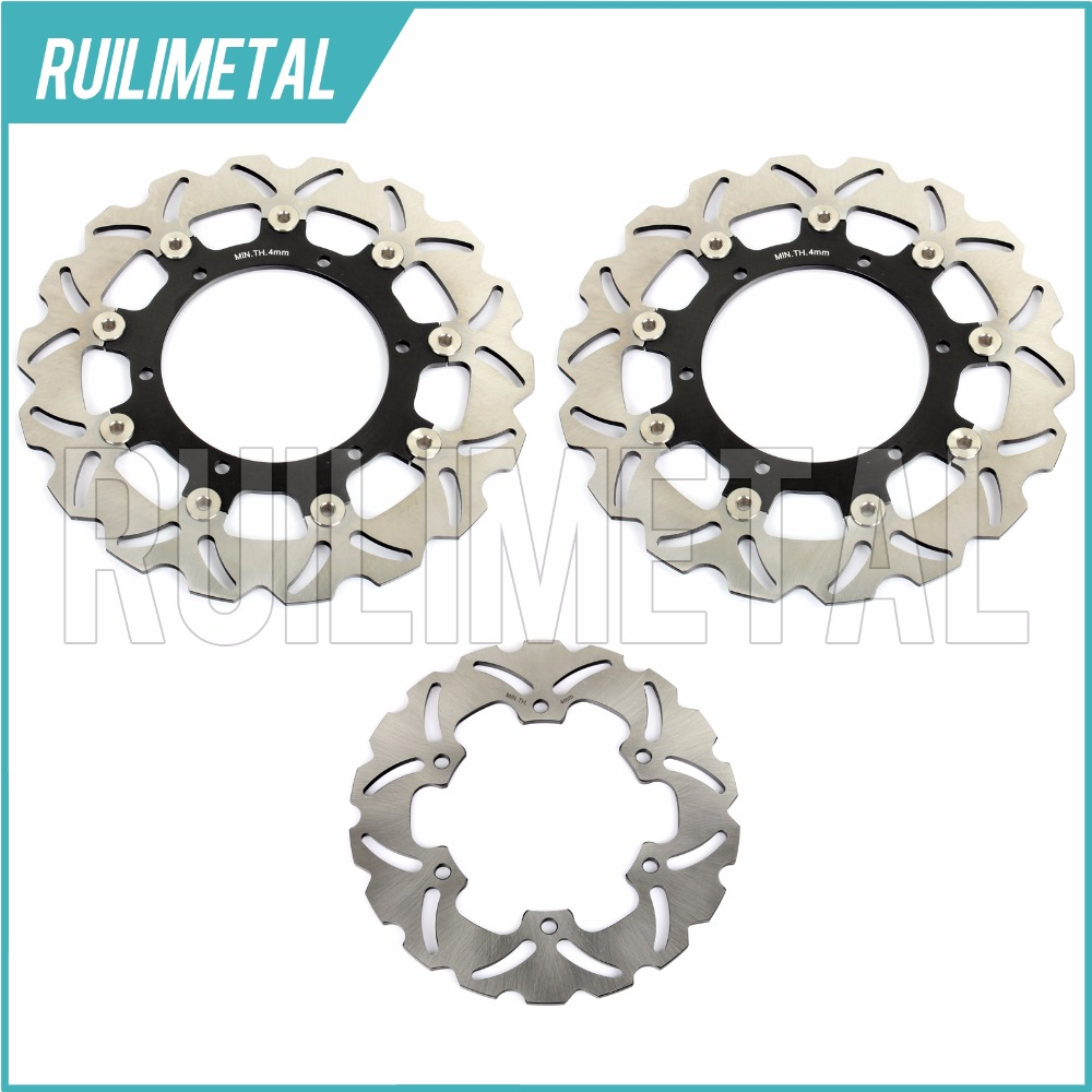 Full Set Front Rear Brake Discs Rotors For YAMAHA YZF R1 1000 2002 2003 02 03 YZF R6 600 1999  2000 2001 2002 99 00 01 02 black gold motorcycle new front rear full set brake discs rotors for yamaha yzf r1 2002 2003 yzf r6 1999 2000 2001 2002 99 02
