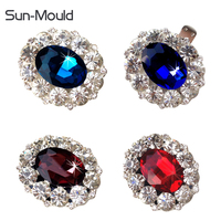 Fashion K9 Crystal Rhinestone Shoe Flower Gem Women S Shoes Charms Buckle Clips Shoes Decoration Accessories