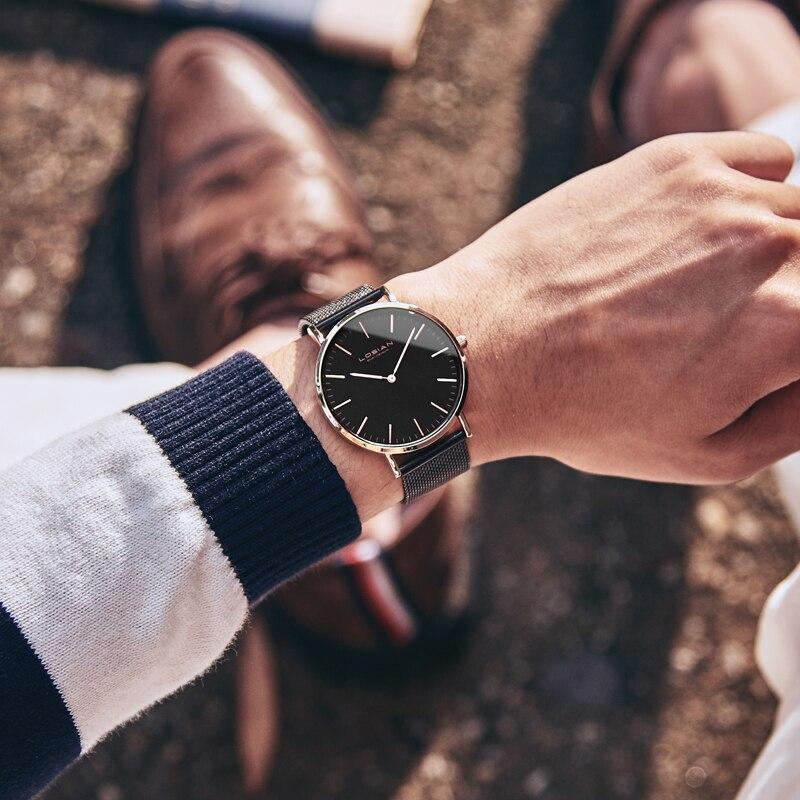 Reloj para hombre de lujo Casual 2018 choque de agua de acero inoxidable para mujer reloj whatch hombres horloges hombre masculino de lujo-in Relojes de cuarzo from Relojes de pulsera    1
