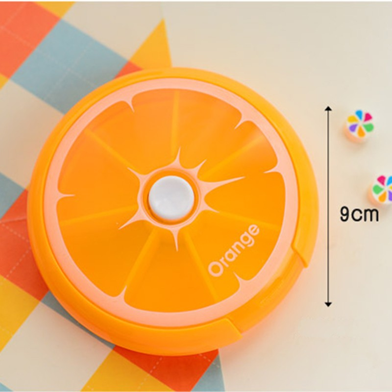 New-Portable-fruit-style-7-grid-seal-rotation-Storage-Cases-Jewelry-candy-box-Storage-Box-Vitamin (4)