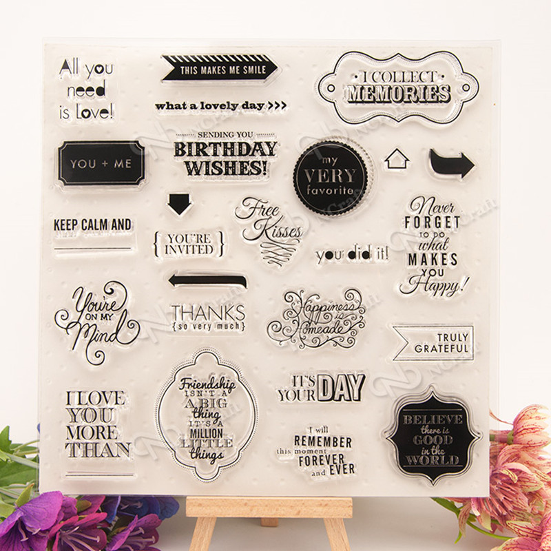 letter Scrapbook DIY photo cards rubber stamp clear stamp seal hand finished chapter transparent account T0023 scrapbook diy photo cards account rubber stamp clear stamp transparent stamp aboutenglish letter phrase tm 004