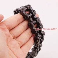 9 22mm Heavy 316L Stainless Steel Black Mens Biker Bicycle Motorcycle Chain Males Bracelets & Bangles Cool Jewelry