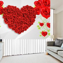 red heart rose flower curtains 3d Curtains Blackout for Living Room Kids Bedroom Fabric(China)