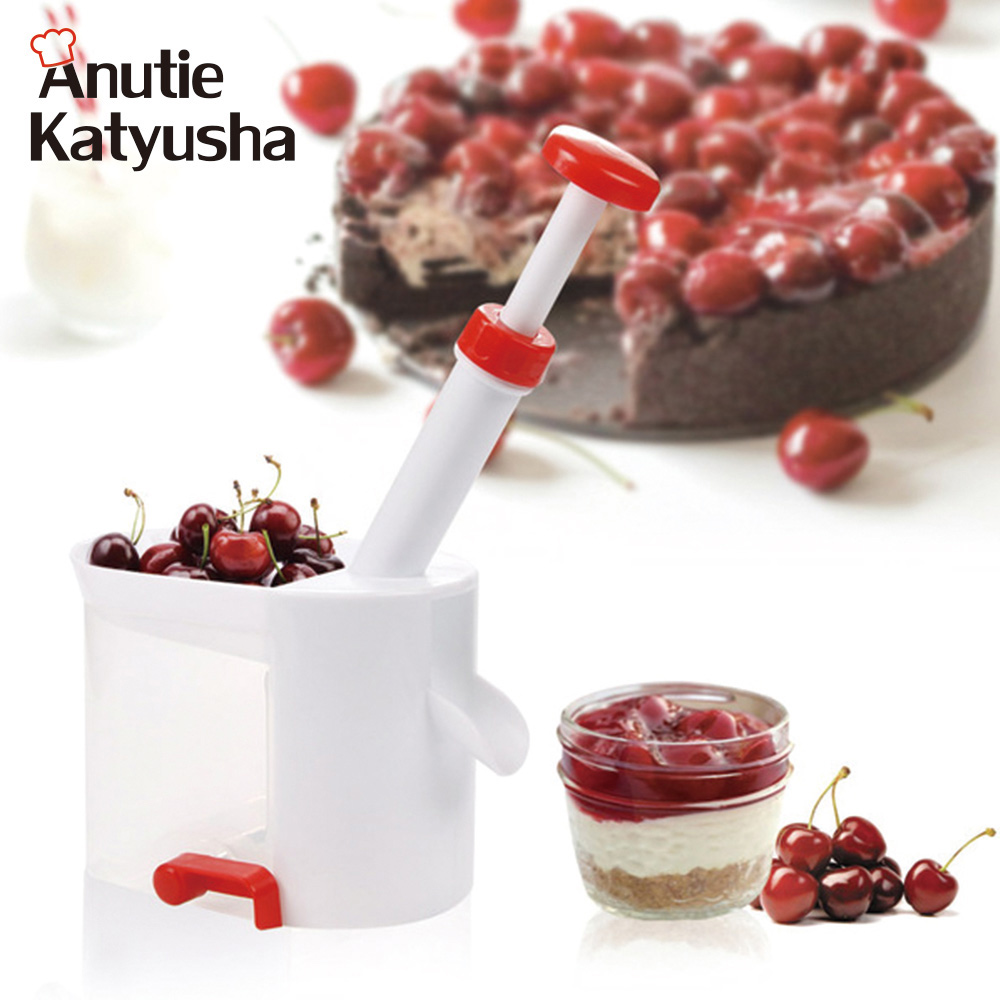 Creative Cherry Pitters With Container Box Easy Fast Remove Cherry Core Seed Stone Remover Kitchen Fruit Gadgets Tools Accessori