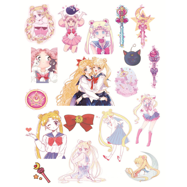 photograph relating to Printable Sticker Sheets named US $1.38 5% OFF2 Sheet Lovely A5 Sailor Moon Lady Attractive Sticker Mounted Al Every day Sticker Do-it-yourself Sbooking Stickers College Stationery-within just Stationery