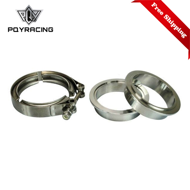 "Free Shipping 2.5"" SUS 304 Steel Stainless Exhaust V Band Clamp Flange Kit V band Vband Male Female Design PQY5241
