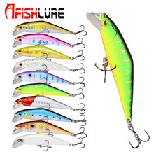Afishlure 66mm/8g Minnow Lures Sinking Hard Baits Iscas Artificial Pesca Leurre Dur Peche Lure Fishing ABS Hard Lure 6pcs lot 3d painting fishing lure 6 5cm 5g sinking leurre dur peche souple big sea hard bionic bait lures vmc treble 8 hooks