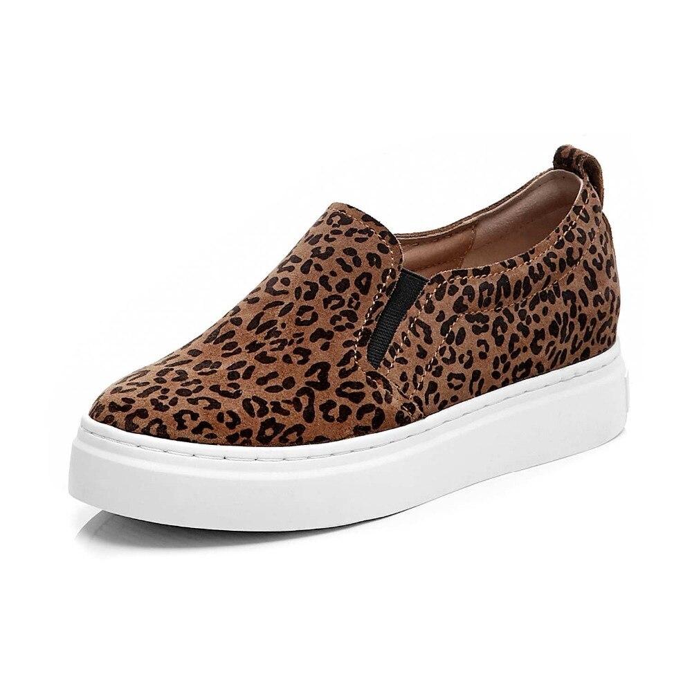 Bout Chaussures Offre En Leopard Pot Plat Rond Glissement Léopard Augmenté 2019 Plate Vulcanisées Krazing forme Vache De Sexy L15 Daim Causalité Sneakers Spéciale Sur 1cKlFJT