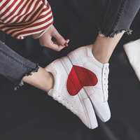 Smile Circle 2018 Spring/Summer White Sneakers Women Ultra soft Lace up Casual Shoes Women Flat Platform Shoes Girl shoes A58101