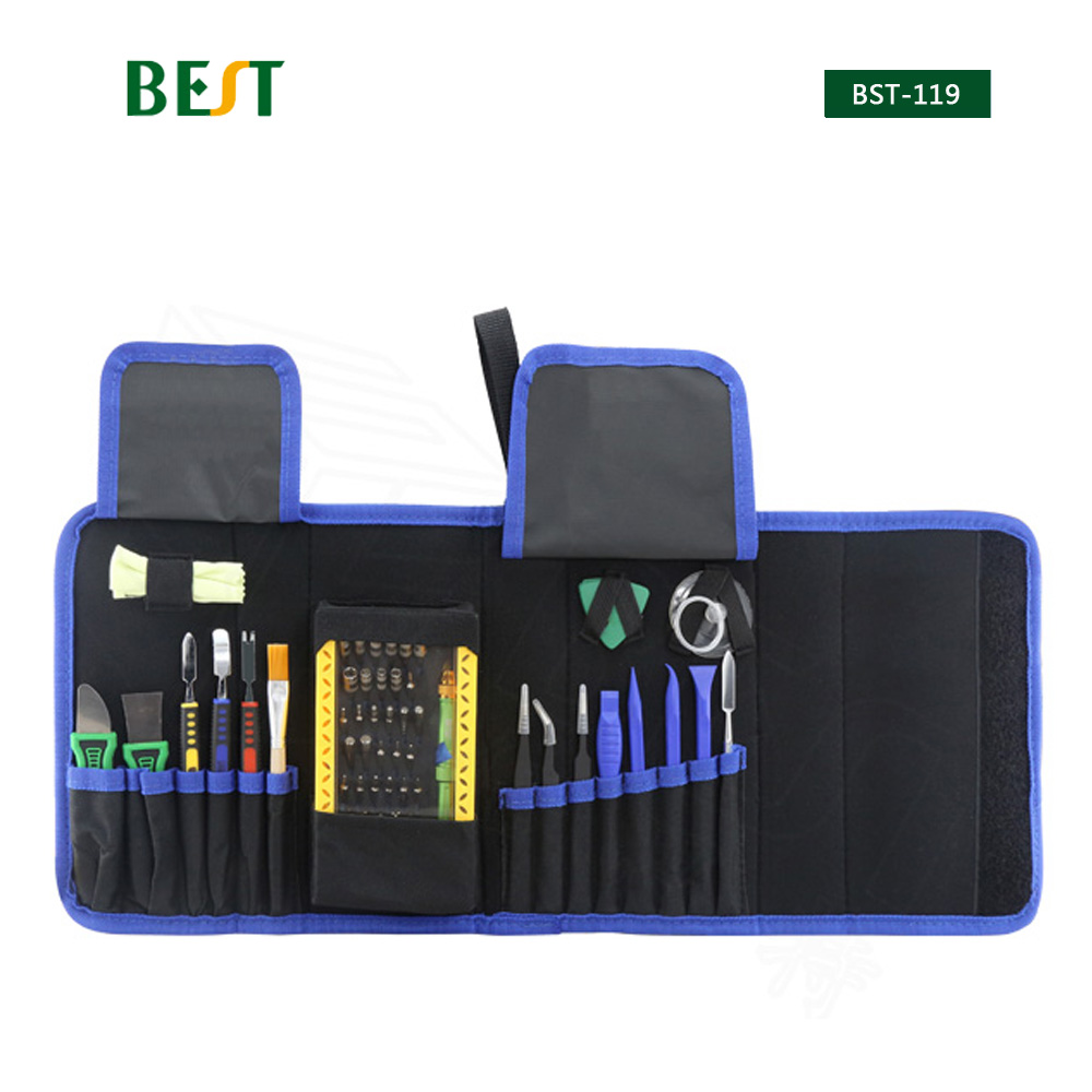 64 in 1 BST-119 Multi-purpose Toolkit Mobile Smart Phone Repair Tool Kit For Iphone Watch Tablet PC Hand Tools Set bst 8925 24 in 1 precision screwdriver tool set tablet pc phone repair
