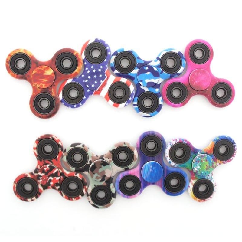 Tri-spinner Fidget Spinner Hand Finger Camouflage Fidget Toys 2017 New Figet Spiner Camouflage Top Spinner Toy Focus Handspinner