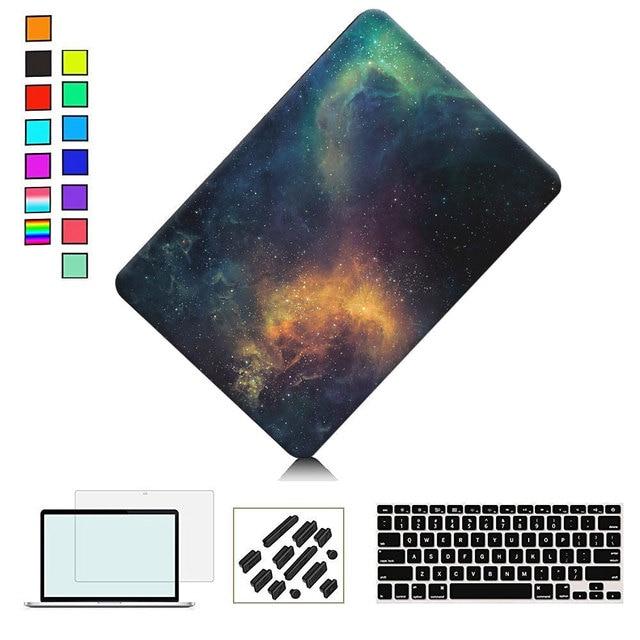 Galaxy Печати Пластиковых Оснастки На Случай Для Macbook Pro 13 15 дюймов с Retina A1425 A1502 A1398 A1706 A1708 HardShell Случай Компьтер-книжки