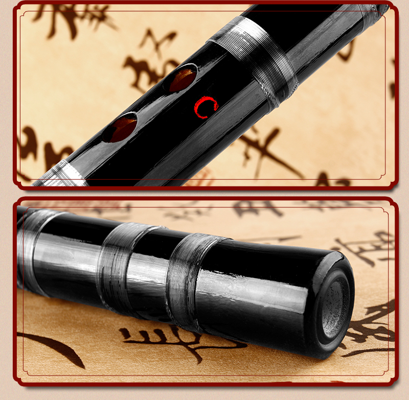 D/E/F/G ключ черная бамбуковая флейта с прозрачной линией Китайский традиционный музыкальный инструмент ручной работы духовой инструмент