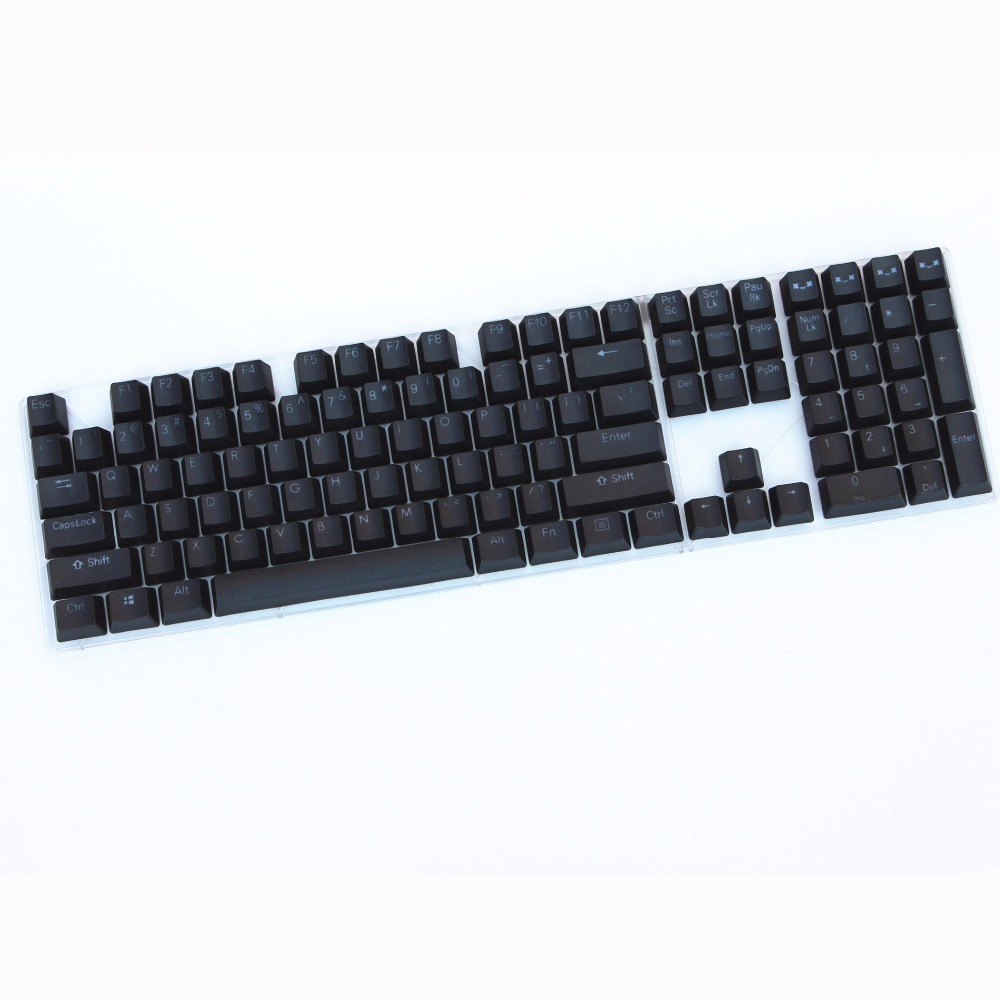 104/108 key Black PBT Double-shot Backlit Keycap Cherry MX Switch Mechanical Keyboard Keycap Only sell keycaps photo studio theme double shot 104 106 keys pbt keycap cherry profile mx switch for cherry noppoo flick ikbc only sell keycaps