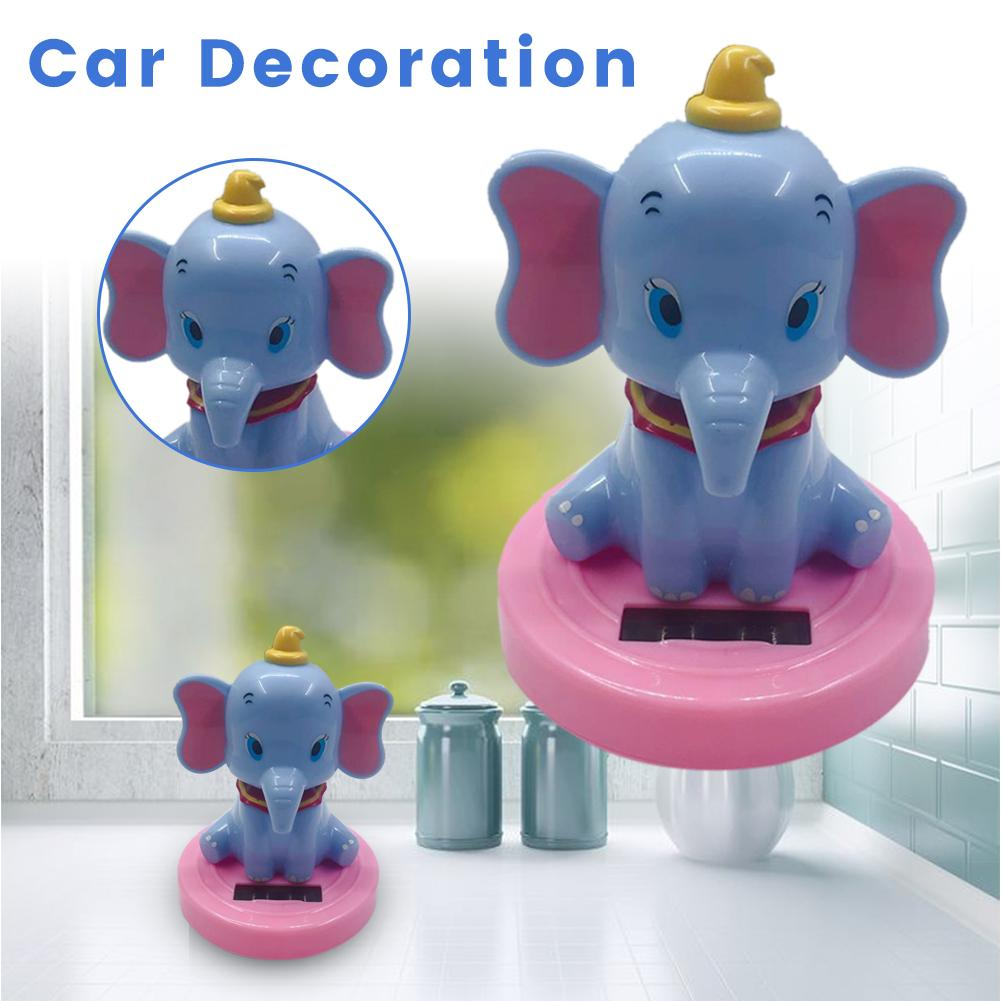 Image 5 - Car Decoration Pendant Araba Aksesuar Cute Cartoon Flying Elephant Solar Powered Dancing Animal Swinging Car Accessories-in Ornaments from Automobiles & Motorcycles