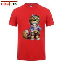 Short Sleeve T-Shirt Steampunk Mens dress Marcas costume Brand Clothing Steampunk fox men t shirt Camisetas Hombre t-shirt Homme