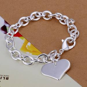 Bracelets New Elegant Charms Fashion Jewelry Silver Heart Women Christmas-Gifts High-Quality