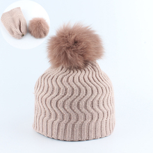 2019 winter hat beanies for kids boys girls real fur pom pom hat baby winter wool hats knitted warm cap new fashion cute winter ear cap warm wool knitted beanis hat for baby girls boys apparel accessories gorro masculino 7z