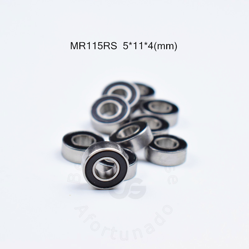 MR115RS 5*11*4(mm) 10pieces Free Shipping Bearing ABEC-5 Rubber Sealed Miniature Mini Bearing  MR115 Chrome Steel Bearings