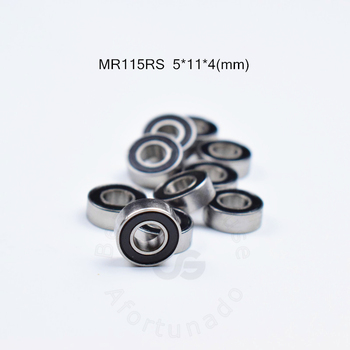 MR115RS 5*11*4(mm) 10pieces free shipping bearing ABEC-5 rubber Sealed Miniature Mini Bearing  MR115 chrome steel bearings s51112 bearing 60 85 17 mm 1pc abec 1 stainless steel thrust s 51112 ball bearings