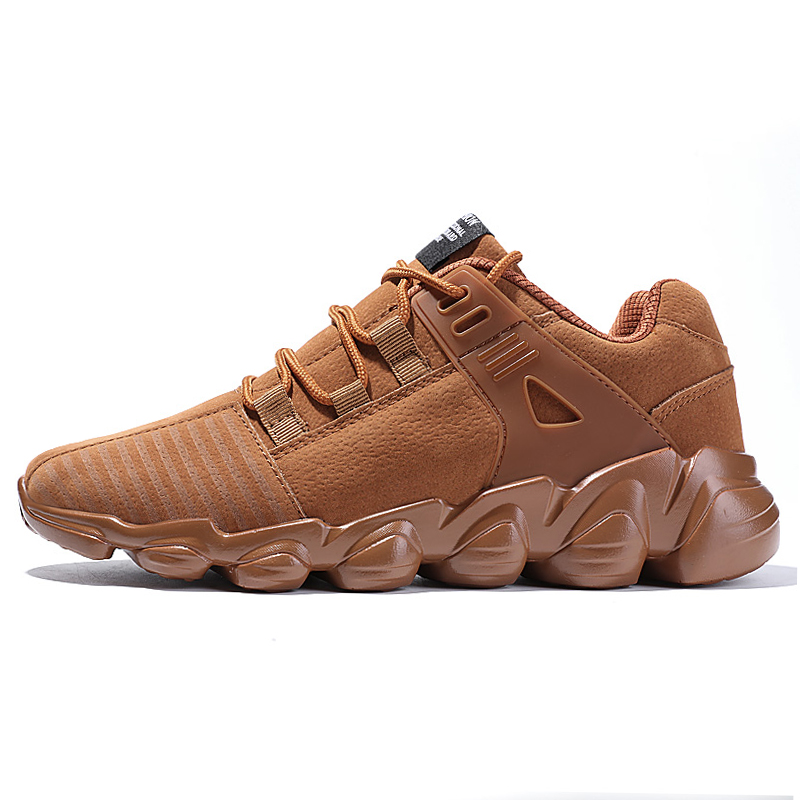 Trendy Men Running Shoes Senior Suede Comfortable Non-slip Sports Shoes Outdoor Male Sneaker Trainer Shoes Plus size