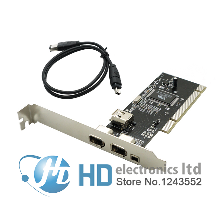 4 Ports Firewire IEEE 1394 4/6 Pin PCI Controller Card Adapter For HDD MP3 PDA