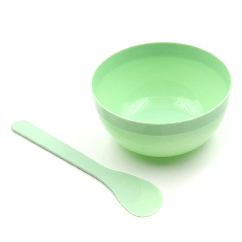 """Чаша в стиле """"сделай сам"""" набор грязь Tool Mixing глубокая тарелка с ложкой Кристалл грязи детские игрушки цветной Лизун контейнер Box Пластилин «сделай сам» Набор слизи для глины - Цвет: Real green"""