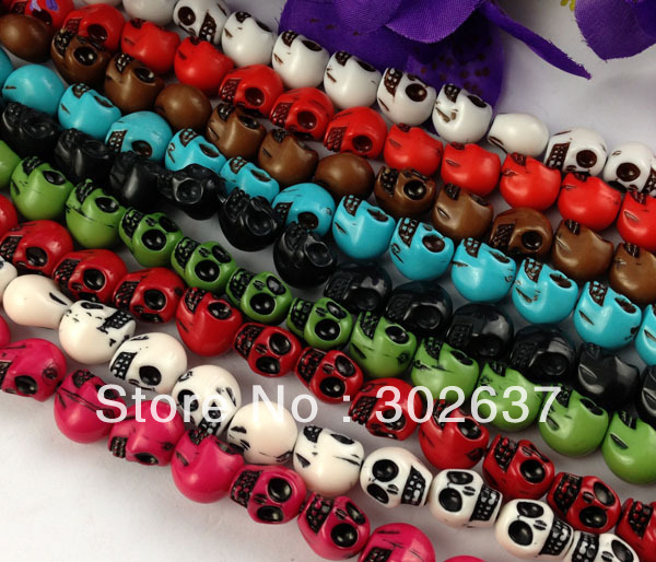 FREE SHIPPING 8 Strands of Mixed skull beads for making shamba11a bracelet #22635