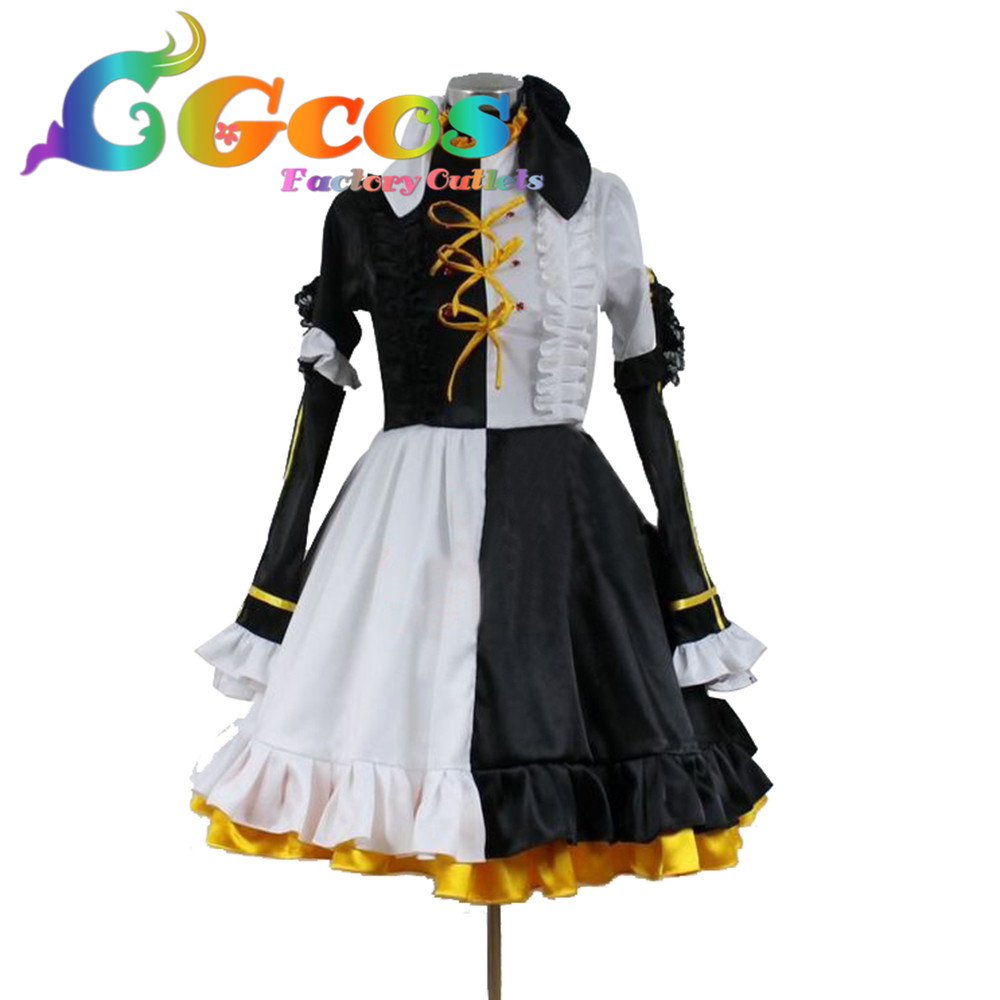 CGCOS Free Shipping Cosplay Costume Vocaloid Furnace heart melt Kagamine RinNew in Stock Retail / Wholesale Halloween