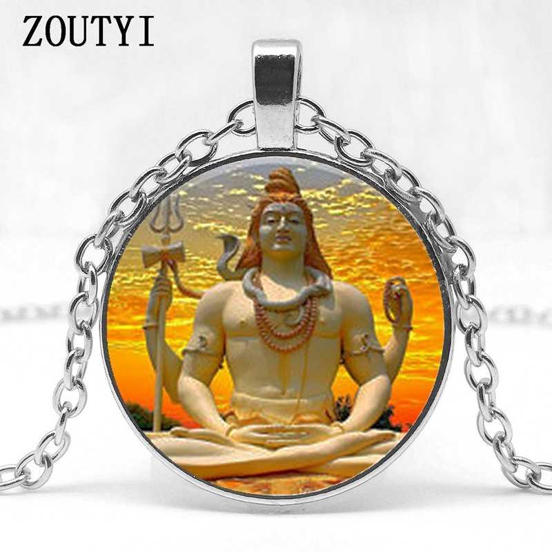 2018/colar Indiano Shiva deus Budista Buddha colar artesanal jóias charme colar de pingente religioso Hindu jóias