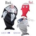 2016Cute Cartoon Shark Baby Sleep Bag Winter Baby Sleep Sack Warm Baby Blanket Warm Swaddle