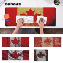 Babaite New Design Canadian flag  Locking Edge Mouse Pad Game Free Shipping Large Keyboards Mat