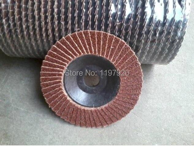 2pc 80 Grit 100*16mm 80# 13700rpm Angle Grinder Sanding Flap Disc Deburring For Deburring Finishing Work Surface Light Grind