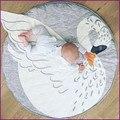 Multi-función de casa carpet manta combinada de arrastre de la panza piso volar cisne playmat juego círculo alfombra niños decoración de la habitación