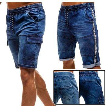 Thin Denim Ruched Shorts 4