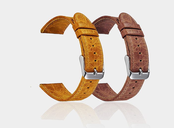 Vintage Style Brown Color Genuine Leather Watch Band For Fitbit Blaze Fitness Tracker Wrist Strap Bracelet With Pins