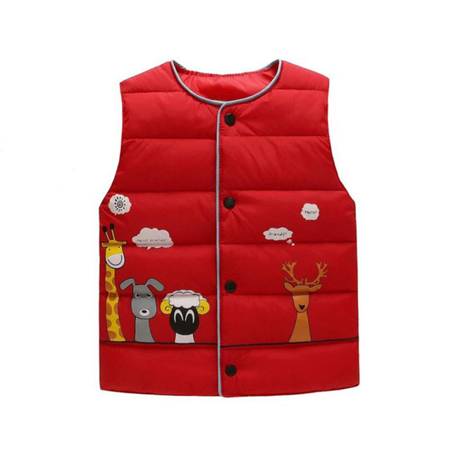 b2e09230eb064f cotton vest kids for girls boys autumn winter outwear sleeveless jacket  children high quality feather cotton cartoon style top