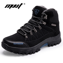 Supper Warm Men Hiking Boots Waterproof Outdoor Winter Sneakers Professional Climbing Shoes