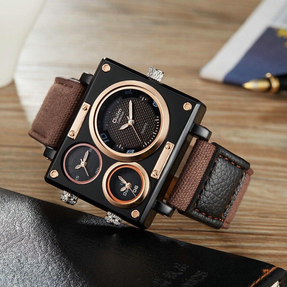 OULM BEST VERKOPENDE MAN MODE MILITAIRE HORLOGE Top Merk Luxe Retail Vip Drop Verzending Groothandel Horloge Nato Strap MANNEN Horloge