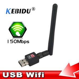 kebidu High Speed Mini PC wifi adapter 150M USB WiFi antenna Wireless Computer Network Card 802.11n/g/b LAN wiht Antenna