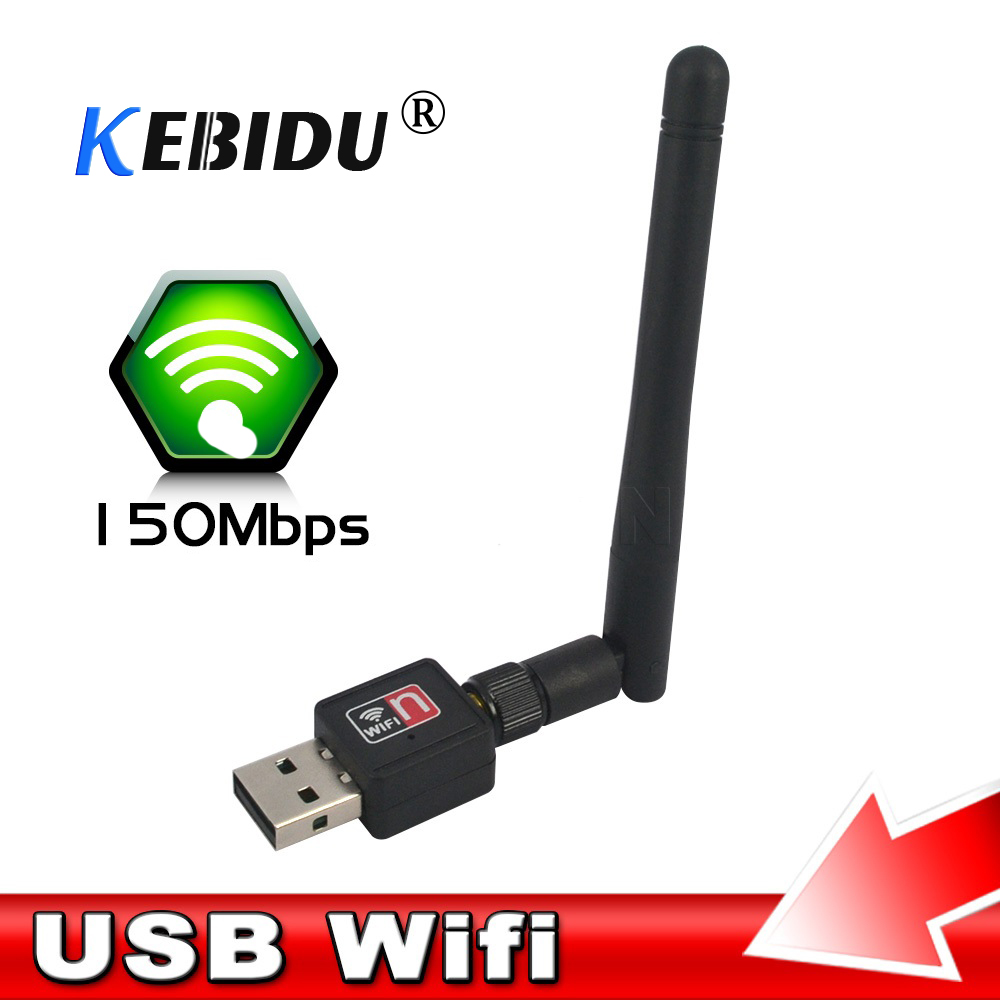 802.11n//g//b Dongle PC Mini Raspberry Wiht Card USB Adapter Antenna Wifi