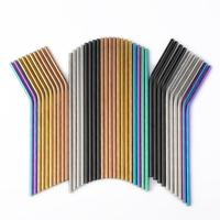 Wholesale 1000Pcs/batch Reusable Metal Straws E co Friendly Stainless Steel Drinking Tubes 6MM*215MM Straws For Slushies
