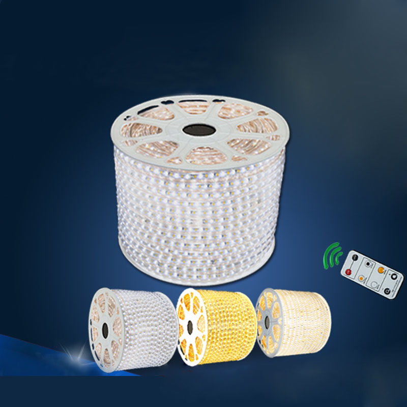 30m/lot Dimmable LED strip SMD 2835 120leds/m 220V flexible light tiras led tape waterproof ip67 with controller
