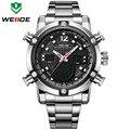 Часы Мужчины Luxury Brand WEIDE Спорт Полный Стали Смотреть мужские Кварцевые Цифровые Часы Человек Военный Наручные Часы relogio masculino