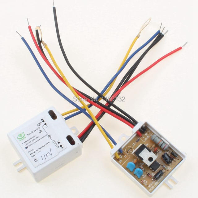 Online Shop 2pcs AC XD609 110V 4 Way Dimmer Switch ONOFF Touch for