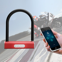 intelligent Bluetooth password U-lock Glass door anti-theft lock APP waterproof Household For battery car motorcycle bicycle U1